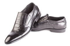 Leather shoes for men Stock Photography