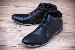 Leather shoes Stock Images