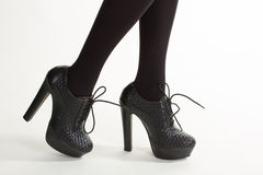 Leather shoes with smooth inset. Stock Photography
