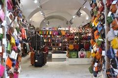 Leather Shop in Prague Stock Photos