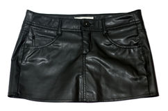 Leather Skirt Stock Images