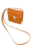 Leather sling handbag Royalty Free Stock Images