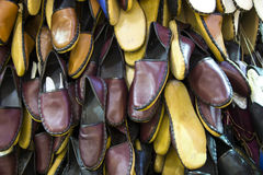 Leather slippers Stock Photography