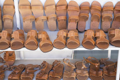 Leather slippers Royalty Free Stock Images