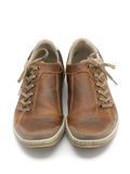 Leather sneakers royalty free stock images