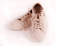 Leather sneakers Stock Images