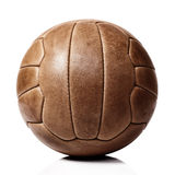 Leather soccer ball Royalty Free Stock Photography