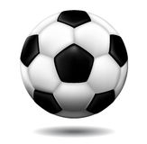 Leather soccer ball Stock Photos