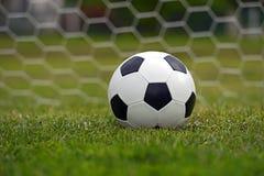 Leather soccer ball Stock Photos
