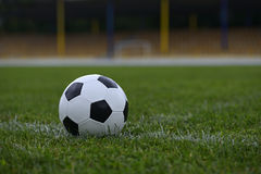 Leather soccer ball Royalty Free Stock Images