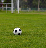 Leather soccer ball Royalty Free Stock Photo