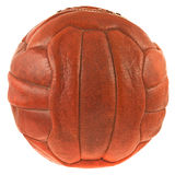 Leather soccer ball. Royalty Free Stock Images