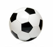 Leather soccer ball isolated Royalty Free Stock Image