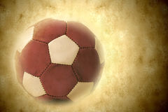 Leather soccer ball in retro style Royalty Free Stock Image