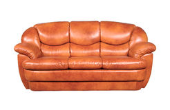 Leather sofa. A leather sofa isolated on white background Royalty Free Stock Photography