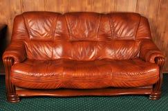 Leather sofa Stock Photos