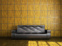 Leather sofa Stock Photo