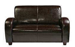 Leather sofa. Isolated on white royalty free stock images