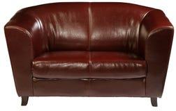 Leather sofa. Isolated on white royalty free stock image
