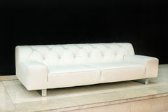 Leather sofa angle Stock Photography