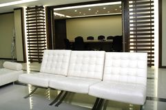Leather Sofa at the boardroom Royalty Free Stock Image