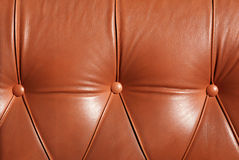 Leather sofa with an buttons Royalty Free Stock Photo