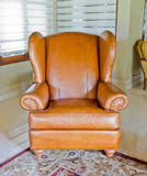 Leather sofa and chair Royalty Free Stock Photography
