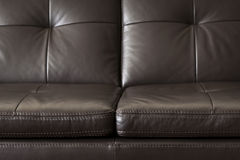 Leather sofa close up Royalty Free Stock Photography