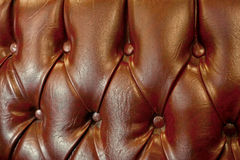 Leather sofa detail Royalty Free Stock Image