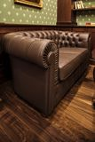 Leather sofa in Home Interior Royalty Free Stock Photo