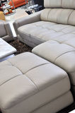 Leather sofa and interior Royalty Free Stock Images