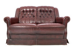 Leather sofa isolated Royalty Free Stock Image