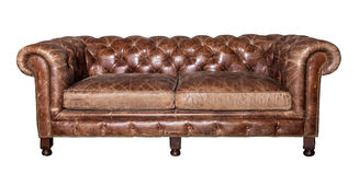 Leather sofa isolated Stock Photos
