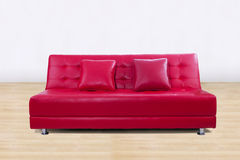 Leather sofa in living room Royalty Free Stock Photos