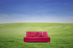 Leather sofa outdoor Stock Photography