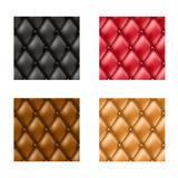 Leather sofa pattern set Stock Photo