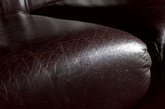 Leather sofa seat Stock Images