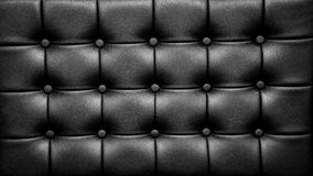 Black Leather Sofa Surface with Buttons. Leather Sofa Surface of Black Sofa Chair, Buttons on the Rexine Stock Photos
