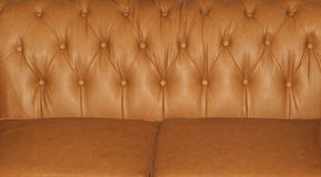 Leather sofa upholstery Royalty Free Stock Image