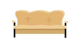 Leather Sofa Vector Illustration in Flat Design Stock Image