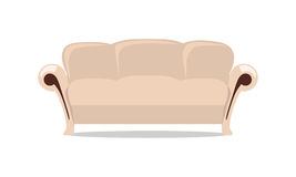 Leather Sofa Vector Illustration in Flat Design Royalty Free Stock Photo
