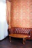 Leather sofa, vintage style luxury interior Stock Image