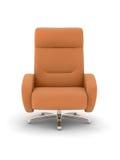 Leather sofa. On white background stock illustration