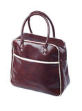 Leather sport bag Stock Images