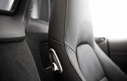 Leather sports seats Royalty Free Stock Images