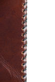 Leather stitch Royalty Free Stock Images