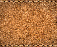 Leather. Stitched suede leather close up Royalty Free Stock Image