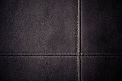Leather stitched texture Royalty Free Stock Image