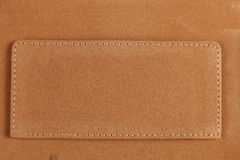 Leather with Stitches Stock Photo