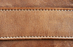 Leather with stitching Stock Photography